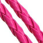Cord lëkure, PU, Shape Tjera, asnjë, asnjë, rose carmine, 4mm, 100m/Shumë,  Shumë