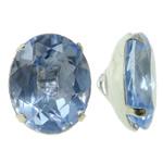 Beads bizhuteri Diamant i rremë, Tunxh, with Xham, Oval, ngjyrë platin praruar, asnjë, asnjë, , nikel çojë \x26amp; kadmium falas, 10x12x7mm, : 1x2mm, 10PC/Qese,  Qese