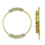 Bizhuteri tunxh Gjetja, Petull e ëmbël në formë gjevreku, ngjyrë ari praruar, me diamant i rremë, asnjë, , nikel çojë \x26amp; kadmium falas, 55x61x6mm, : 52x47mm, 2PC/Qese,  Qese