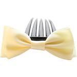 Combs dekorative Flokët, Saten Ribbon, with Plastik, asnjë, asnjë, krem të verdhë, 9.5x4cm, 8.5cm, 55PC/Shumë,  Shumë
