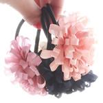 Bisht mbajtës, Silk pe, with Thread elastik, Lule, elastik, asnjë, ngjyra të përziera, 6.5cm, 30PC/Shumë,  Shumë