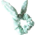 Elastike Hair, Silk pe, Shape Tjera, elastik, me model të rrumbullakët spot, cyan, 14.5x6cm, 30PC/Shumë,  Shumë