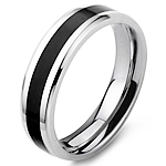 Çeliku Stainless Ring Finger, Stainless Steel, Shape Tjera, stoving llak, për njeriun, ngjyra origjinale, 6mm, :8.5,  PC