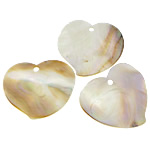 Pendants Shell, Deti Shell, Zemra Flat, asnjë, asnjë, asnjë, 55x51x1-2mm, : 4mm, 20PC/Shumë,  Shumë