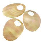 Pendants Shell, Deti Shell, Oval Flat, asnjë, asnjë, asnjë, 38-40x53-55x1mm, : 15mm, 20PC/Shumë,  Shumë