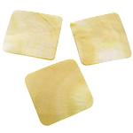 Cabochons Shell, Shell Verdha, Katror, asnjë, mbrapa banesë, asnjë, 37x37x1-2mm, 20PC/Shumë,  Shumë