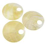 Pendants Natyrore Shell Verdha, Round Flat, asnjë, asnjë, asnjë, 52x52x1-2mm, : 12mm, 20PC/Shumë,  Shumë