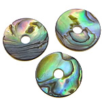 Pendants Natyrore predhë guaskë, Shell Guaskë, Rolo, asnjë, asnjë, asnjë, 10x10x1mm, : 2mm, 200PC/Shumë,  Shumë