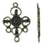Alloy zink, Shape Tjera, Ngjyra antike bronz i praruar, 1/1 loop, asnjë, , nikel çojë \x26amp; kadmium falas, 18x26x2mm, : 1.5mm, 830PC/KG,  KG