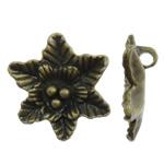 Pendants Zink Alloy Lule, Alloy zink, Ngjyra antike bronz i praruar, asnjë, asnjë, , nikel çojë \x26amp; kadmium falas, 29x30x9mm, : 3.5mm, 140PC/KG,  KG