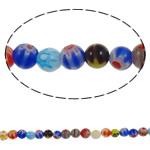 Glass Beads Chevron, Glass Chevron, Round, punuar me dorë, asnjë, ngjyra të përziera, 6mm, : 1mm, : 15Inç, 10Fillesat/Shumë, approx 68pcs/strands,  Shumë