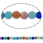 Cats Beads bizhuteri Syri, Cats Eye, Round, asnjë, asnjë, 6mm, : 1mm, :14.7Inç, 67PC/Fije floku,  14.7Inç,