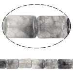 Beads kuarc bizhuteri, Grey kuarc, Drejtkëndësh, natyror, asnjë, 15x20mm, : 1.5mm, :15.7Inç, 5Fillesat/Shumë,  Shumë