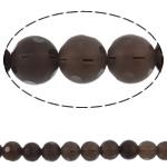 Beads kuarc bizhuteri, Tym kuarc, Round, natyror, punuar me dorë faceted, 12mm, : 1.5mm, :15.7Inç, 5Fillesat/Shumë,  Shumë