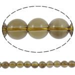 Natürliche Rauchquarz Perlen, rund, 10mm, Bohrung:ca. 2mm, Länge:16 ZollInch, 5SträngeStrang/Menge, verkauft von Menge