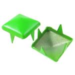 Iron Claw Rivet, Hekur, Katror, pikturë, 4 thua, bari e gjelbër, , nikel çojë \x26amp; kadmium falas, 9mm, 1000PC/Qese,  Qese