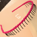 Hair Bands, Hekur, with Saten, Shape Tjera, pikturë, asnjë, lotus kuqe, , nikel çojë \x26amp; kadmium falas, 13mm, 30PC/Shumë,  Shumë