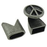 Alloy zink Cord lëkure kapje, Shape Tjera, Ngjyra antike argjendi praruar, asnjë, asnjë, , nikel çojë \x26amp; kadmium falas, 15x15mm, 13x13mm, : 10x5mm, 50I vendosur/Shumë,  Shumë