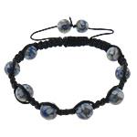 Rrëshirë Shamballa Bracelets, with Cord najlon, Shape Tjera, asnjë, asnjë, e zezë, 10mm, :8-12Inç, 30Fillesat/Shumë,  Shumë