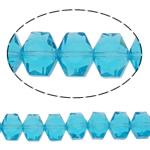 Swarovski Crystal Beads, Shape Tjera, asnjë, faceted, deti blu, 10x8x6mm, : 1mm, : 15.7Inç, 50PC/Fije floku,  15.7Inç,