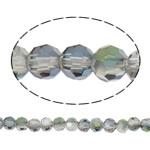 Swarovski Crystal Beads, Round, colorful kromuar, faceted, vjollcë, 4mm, : 1mm, : 14.3Inç, 100PC/Fije floku,  14.3Inç,