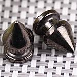 Alloy zink Claw Rivet, Plumb, plumbit ngjyrë të zezë praruar, asnjë, asnjë, , nikel çojë \x26amp; kadmium falas, 7x13mm, 100Sets/Qese,  Qese