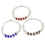 Pearl kulturuar ujërave të ëmbla, with Kristal & Seed Glass Beads, Shape Tjera, natyror, ngjyra të përziera, 5-6mm, :7Inç, 10Fillesat/Qese,  Qese