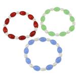 Pearl kulturuar ujërave të ëmbla, with Thread elastik & Gërdallë, Shape Tjera, natyror, ngjyra të përziera, 8mm, :7.5Inç, 10Fillesat/Qese,  Qese