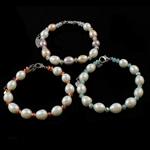 Kulturuar ujërave të ëmbla Pearl byzylyk, Pearl kulturuar ujërave të ëmbla, with Kristal, Shape Tjera, natyror, ngjyra të përziera, 8-9mm, :6Inç, 10Fillesat/Qese,  Qese