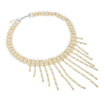 Ujërave të ëmbla Pearl gjerdan Crystal, Pearl kulturuar ujërave të ëmbla, with Kristal, Shape Tjera, natyror, asnjë, 5-6mm, :16Inç,  16Inç,