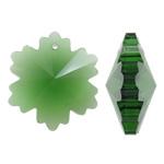 Imitim Swarovski Crystal Pendants, Kristal, Flok dëbore, asnjë, faceted & imitim kristal Swarovski, Peridot, 26x30x13mm, : 2mm, 50PC/Qese,  Qese