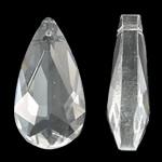 Imitim Swarovski Crystal Pendants, Kristal, Lot, asnjë, faceted & imitim kristal Swarovski, Kristal, 12x24x7mm, : 1mm, 50PC/Qese,  Qese