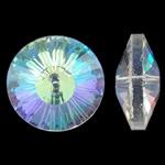 Imitim Swarovski Crystal Beads, Kristal, Round Flat, colorful kromuar, faceted & imitim kristal Swarovski, asnjë, 18x8mm, : 1.5mm, 50PC/Qese,  Qese