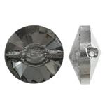 Imitim Swarovski Crystal Beads, Kristal, Round Flat, Ngjyra argjend praruar, faceted & imitim kristal Swarovski, asnjë, 14x7.5mm, : 1mm, 50PC/Qese,  Qese