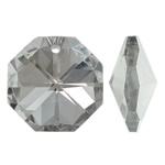 Imitim Swarovski Crystal Pendants, Kristal, Tetëkëndësh, Ngjyra argjend praruar, faceted & imitim kristal Swarovski, asnjë, 20x20x10.50mm, : 1.5mm, 50PC/Qese,  Qese