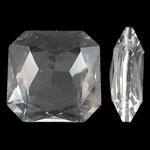 Imitim Swarovski Crystal Cabochon, Kristal, Katror, asnjë, faceted & imitim kristal Swarovski, Kristal, 23x9mm, 50PC/Qese,  Qese