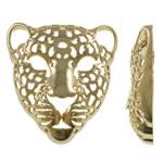 Pendants Zink Alloy Kafshëve, Alloy zink, Leopard, ngjyrë ari praruar, i uritur, asnjë, , nikel çojë \x26amp; kadmium falas, 48x48.50x13mm, : 1mm, 10PC/Qese,  Qese