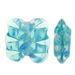 Beads dorë Lampwork, Shape Tjera, punuar me dorë, asnjë, dritë blu, 18x18x7.50mm, : 2mm, 100PC/Qese,  Qese