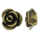 Beads bizhuteri bronzi, Tunxh, Lule, Ngjyra antike bronz i praruar, gjysmë-shpuar, asnjë, , nikel çojë \x26amp; kadmium falas, 9x9x5mm, : 2.5mm, 50PC/Qese,  Qese
