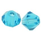 Swarovski Crystal Beads, Bicone, Indicolite, 4mm, : 1mm, 50PC/Qese,  Qese