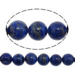 Beads lapis lazuli, Natyrore lapis lazuli, Round, asnjë, asnjë, 10mm, : 1.5mm, :15.5Inç, 40PC/Fije floku,  15.5Inç,
