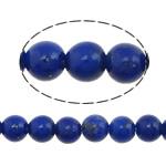 Beads lapis lazuli, Natyrore lapis lazuli, Round, asnjë, asnjë, 3mm, : 0.8mm, :16Inç, 2Fillesat/Shumë, 134 Pcs/Strand,  Shumë