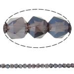 Beads Crystal, Kristal, Shumëkëndësh, plotë kromuar, faceted, asnjë, 6mm, : 1.5mm, : 23.5Inç, 100PC/Fije floku,  23.5Inç,