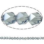 Beads Crystal, Kristal, Shumëkëndësh, plotë kromuar, faceted, Greige, 6mm, : 1.5mm, : 23.5Inç, 100PC/Fije floku,  23.5Inç,