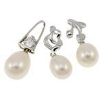 Pearl kulturuar ujërave të ëmbla, with Tunxh, Shape përziera, natyror, ngjyra të përziera, 6-9mm, : 2x3.5-3x7mm, 20PC/Qese,  Qese