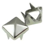 Iron Claw Rivet, Hekur, Katror, Ngjyra argjend praruar, 4 thua, asnjë, , nikel çojë \x26amp; kadmium falas, 6mm, 5000PC/Qese,  Qese