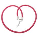 Cord gjerdan Moda, with Tunxh, Shape Tjera, ngjyrë platin praruar, asnjë, rozë, 5mm, :18Inç, 100Fillesat/Shumë,  Shumë