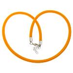 Cord gjerdan Moda, with Tunxh, Shape Tjera, ngjyrë platin praruar, asnjë, portokall, 5mm, :18Inç, 100Fillesat/Shumë,  Shumë