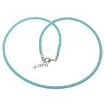 Cord gjerdan Moda, with Tunxh, Shape Tjera, ngjyrë platin praruar, asnjë, dritë blu, 4mm, :18Inç, 100Fillesat/Shumë,  Shumë