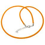 Cord gjerdan Moda, with Tunxh, Shape Tjera, ngjyrë platin praruar, asnjë, portokall, 4mm, :18Inç, 100Fillesat/Shumë,  Shumë